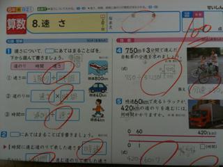 小学六年生算数テスト100点: 向田塾 : 小学六年 算数 : 算数