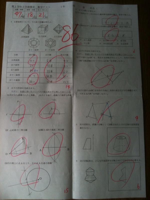 二 学期 1 テスト 中 期末